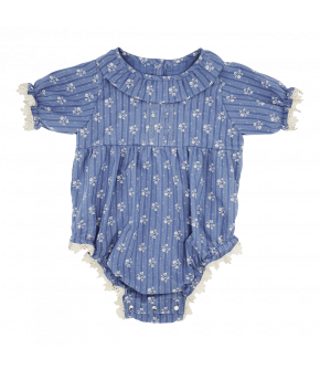 Mignon Baby Romper in the colour campagne by Lena Hoschek Mini-Me collection SS21