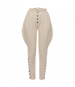 Chevalier Pants in beige by Lena Hoschek - SS21 summer collection - Antoinette's Garden