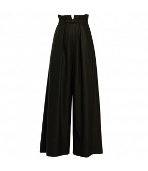 """Dilara pants cedar"" in green by Lena Hoschek - Artisan Partisan - Autumn/winter collection AW20/21"