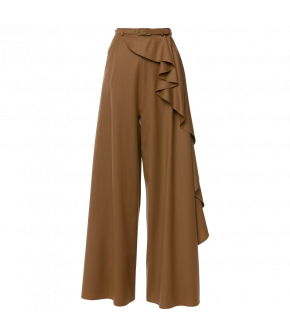 Dramatic Entrance Pants sand in brown by Lena Hoschek - AW21/22 autumn/winter collection - Biedermeier