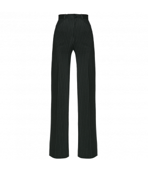 "Dark pinstriped pants by Lena Hoschek ""Hustler Pants pinstripes"""