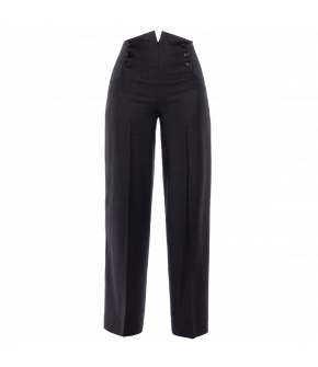"Widelegged trousers with buttons at the front by Lena Hoschek ""Symbolism Pants business"""