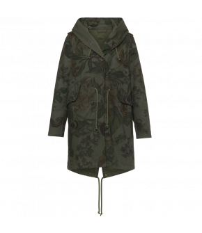 "Botanical print green parka by Lena Hoschek ""Gallagher Coat wintergarden"" - Autumn Winter 2019/20 - Men At Work"