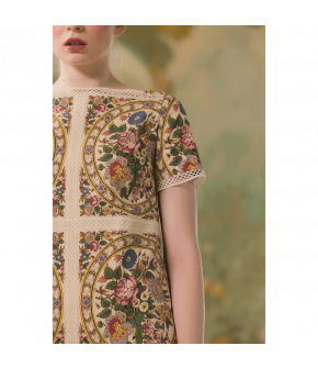 Petite Amie Dress with flowers by Lena Hoschek - SS21 summer collection - Antoinette's Garden