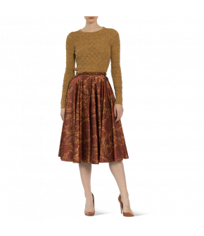 "Knee-length circle skirt ""Maisir"" from Lena Hoschek with zipper - Artisan Partisan - Autumn/winter collection AW20/21"