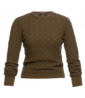 """Bohème pullover olive"" by Lena Hoschek - Artisan Partisan - Autumn/winter collection AW20/21"
