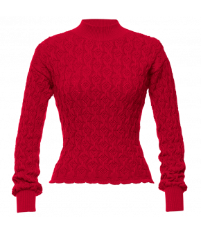 Bourgeois Pullover cardinal in red by Lena Hoschek - AW21/22 autumn/winter collection - Biedermeier