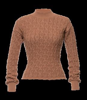 Bourgeois Pullover russet in rust by Lena Hoschek - AW21/22 autumn/winter collection - Biedermeier