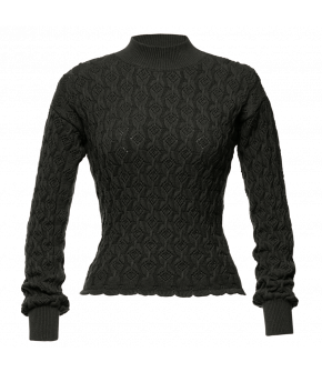 Bourgeois Pullover slate in grey by Lena Hoschek - AW21/22 autumn/winter collection - Biedermeier