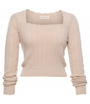 Charmante Pullover poudre in cream by Lena Hoschek - SS21 summer collection - Antoinette's Garden