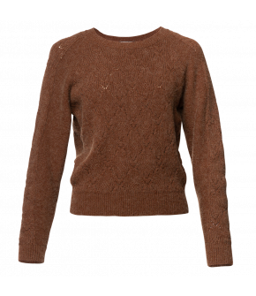 Gina Pullover croquant in caramel by Lena Hoschek - AW21/22 autumn/winter collection - Biedermeier