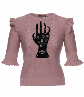 "Lena Hoschek Pullover ""Prophecy"" in light purple - SS20 - Season of the Witch - Summer 2020"