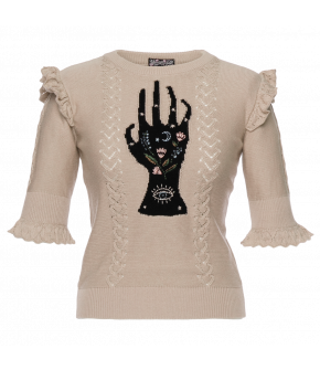 "Lena Hoschek Pullover ""Prophecy"" in beige - SS20 - Season of the Witch - Summer 2020"