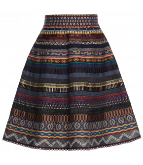 "Classic ribbon skirt ""fata morgana"" by Lena Hoschek - Artisan Partisan - Autumn/winter collection AW20/21"