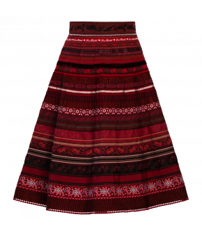"Classic ribbon skirt ""eternal flame"" by Lena Hoschek - Artisan Partisan - Autumn/winter collection AW20/21"