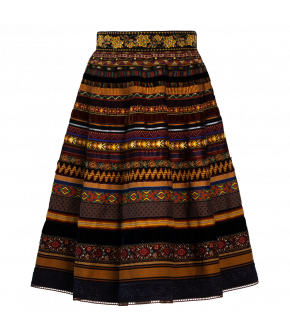 "Original ribbon skirt ""flying carpet"" by Lena Hoschek - Artisan Partisan - Autumn/winter collection AW20/21"