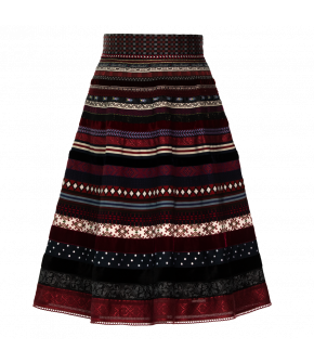 "Classic ribbon skirt ""folk art"" by Lena Hoschek - Artisan Partisan - Autumn/winter collection AW20/21"