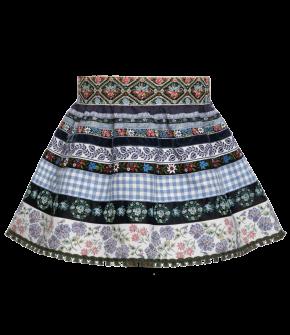"Mini ribbon skirt ""Kornblume"" in blue by Lena Hoschek Tradition - SS20 summer collection"