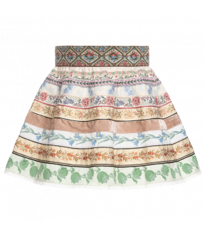 "Mini ribbon skirt ""Sommerwiese"" by Lena Hoschek Tradition - SS20 summer collection"