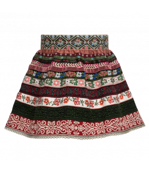"Mini ribbon skirt ""Waldwiese"" by Lena Hoschek Tradition - SS20 summer collection"