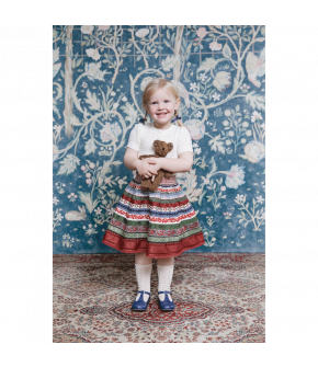 """Ribbon Skirt mini in the colour """"Erdbeerfeld"""" by Lena Hoschek for the summer collection 2021"""