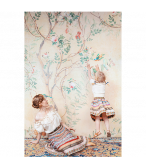 """Ribbon Skirt Mini in the colour """"jardin"""" by Lena Hoschek for the summer collection 2021"""