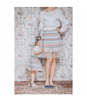"Ribbon Skirt Mini in the colour ""petite amie"" by Lena Hoschek for the summer collection 2021"