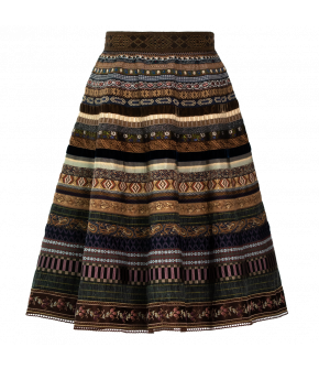 "Original Ribbon Skirt ""Mountain"" by Lena Hoschek - Artisan Partisan - autumn/winter collection AW20/21"