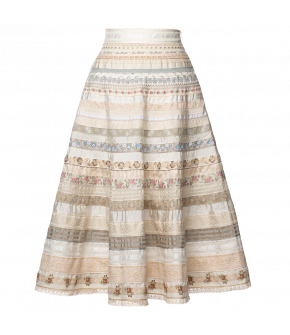 Opulence Ribbon Skirt ceremony by Lena Hoschek - SS21 summer collection - Antoinette's Garden