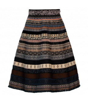 "Classic ribbon skirt ""sleigh ride"" by Lena Hoschek - Artisan Partisan - Autumn/winter collection AW20/21"
