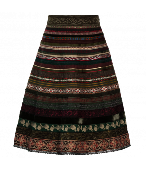 "Slim A-line ribbon skirt ""tribe"" from Lena Hoschek with high waist"