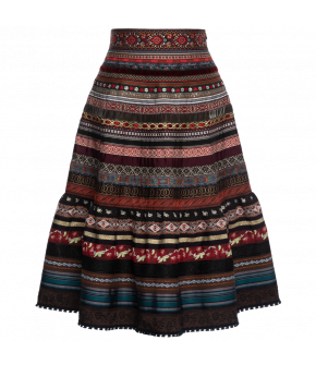 "Volant ribbon skirt ""bazaar"" by Lena Hoschek - Artisan Partisan - Autumn/winter collection AW20/21"