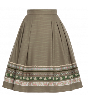"""Almut"" skirt in green by Lena Hoschek Tradition - SS20 summer collection"