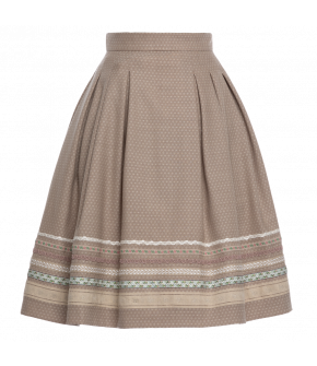 """Almut"" skirt in beige by Lena Hoschek Tradition - SS20 summer collection"