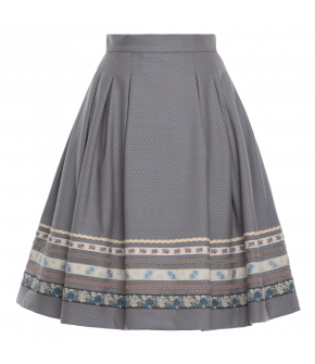 """Almut"" skirt in grey by Lena Hoschek Tradition - SS20 summer collection"