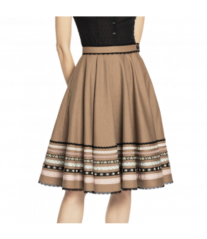 Traditional Dradi skirt in beige by Lena Hoschek - SS20 summer collection - Lena Hoschek Tradition