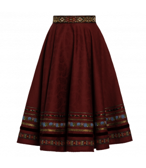 "Dradi skirt ""rosenrot"" in red - Lena Hoschek Tradition - AW20/21 autumn/winter collection"