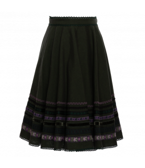 "Traditional ""Dradi"" skirt in green by Lena Hoschek - SS20 summer collection"