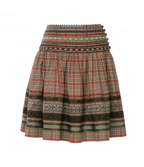 Feli Skirt Herbstlaub in red and brown plaid by Lena Hoschek Tradition - AW21/22 autumn/winter collection
