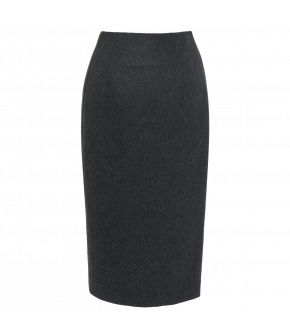 Simple pencil skirt with back slit. Featuring decorative trim down the sides and a back zip fastening. Lined.
