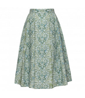 Linda Skirt in green and blue flowers - SS21 summer collection - Lena Hoschek Tradition