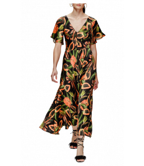 Sunset Dress papaya black by Lena Hoschek - Maxi dress - Tutti Frutti Spring / Summer 2019