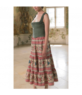 Sans Souci Skirt with floral print by Lena Hoschek - SS21 summer collection - Antoinette's Garden