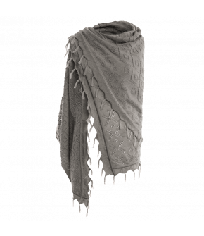 Wally Scarf Bergspitze in grey by Lena Hoschek Tradition - AW21/22 autumn/winter collection