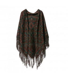 Hawelka Shawl holly in red and green paisley by Lena Hoschek - AW21/22 autumn/winter collection - Biedermeier