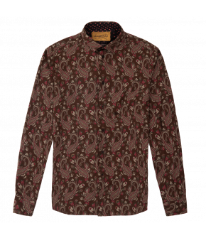 """Costello shirt chocolate paisley"" by Lena Hoschek - Artisan Partisan - Autumn/winter collection AW20/21"