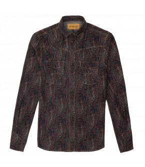 """Luke shirt artisan paisley"" by Lena Hoschek - Artisan Partisan - Autumn/winter collection AW20/21"
