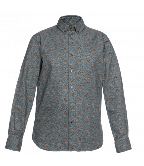 Long-sleeved slim-fit men's shirt from Lena Hoschek in paisley print