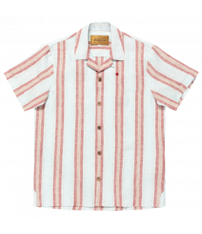 Men's shirt in 50s style from Lena Hoschek with red and white stripes