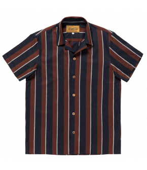 Men's shirt from Lena Hoschek with red and blue stripes